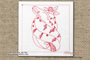 Boidae Reptiles Embroidery Design By Redwork101