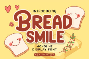 Print on Demand: Bread Smile Display Font By brithostype