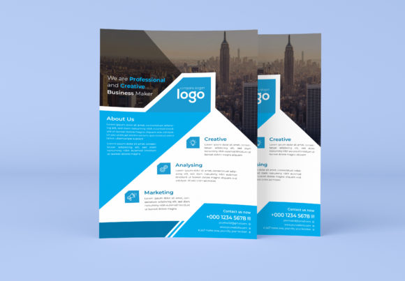 Business Flyer Design Template Graphic Print Templates By GraphicHut