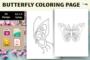 Print on Demand: Butterfly Coloring Page 4 - KDP Graphic Coloring Pages & Books Kids By Sei Ripan