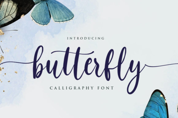 Print on Demand: Butterfly Script & Handwritten Font By hugefonts