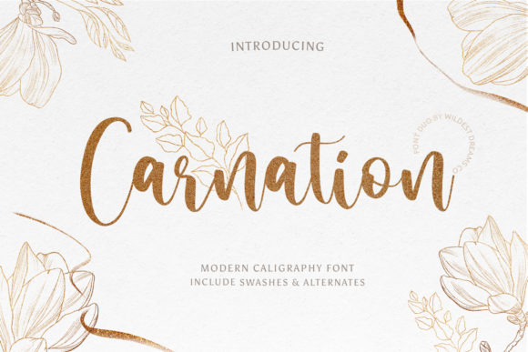 Print on Demand: Carnation Script & Handwritten Font By Wildest Dreams Co