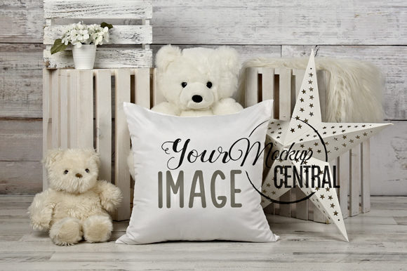 Child's Square Mockup Bedroom Pillow Graphic Product Mockups By Mockup Central
