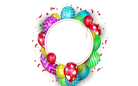 Colorful Birthday Background Graphic Crafts By rorozoagraphic