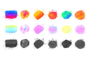 Colorful Vector Isolated Watercolor Graphic Crafts By rorozoagraphic
