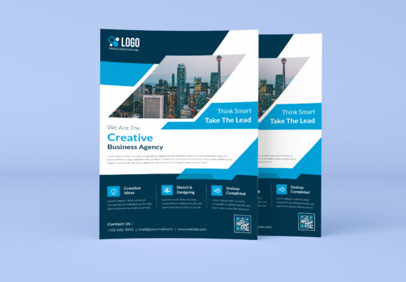 Corporate Flyer Template Graphic