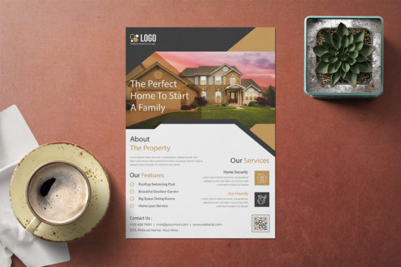 Corporate Real Estate Flyer Template Graphic Print Templates By GraphicHut