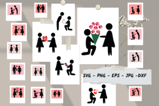 Print on Demand: Couple Svg,Valentine Bundle Graphic Crafts By Richy Bunny
