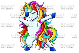 Dabbing Unicorn 5 , Digital Design , PNG Graphic Illustrations By Fundesings