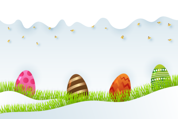 Easter Background with Eggs Graphic Backgrounds By Fauzi Arts