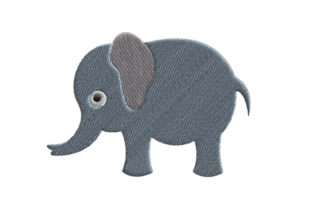 Elephant Wild Animals Embroidery Design By SweetDesign