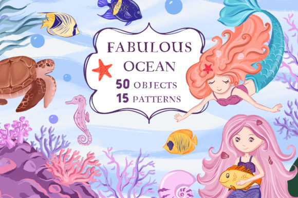 Fabulous Ocean - Graphic Collection Graphic Illustrations By lardgin