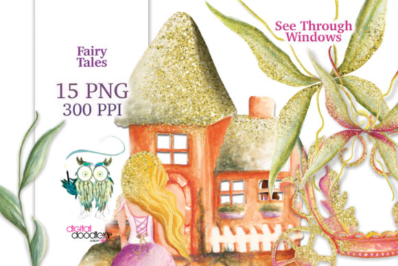 Print on Demand: Fairy Tales Watercolor Graphics Graphic Illustrations By Digital Doodlers