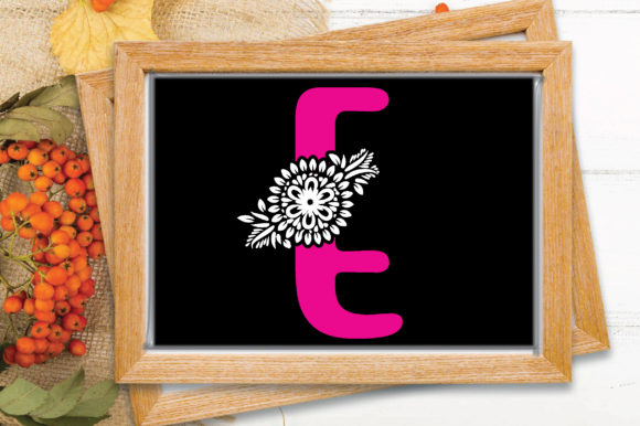 Flower Alphabet Letter-E Graphic Crafts By craftstore