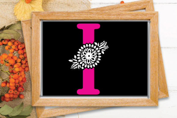Flower Alphabet Letter-I Graphic Crafts By craftstore