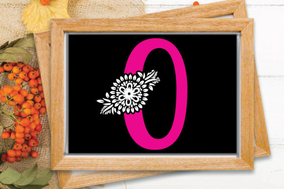Flower Alphabet Letter-O Graphic Crafts By craftstore