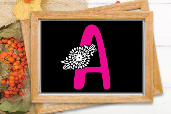 Flower Alphabet Letter-a Graphic Crafts By craftstore