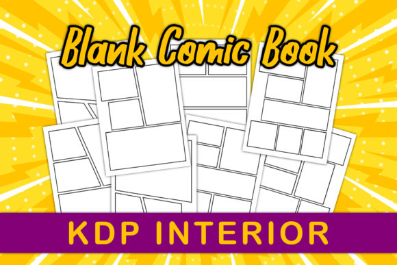 Blank Comic Book - KDP Interiors Graphic Download