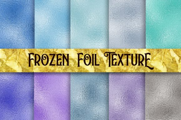 Frozen Foil Texture Background Graphic Backgrounds By PinkPearly