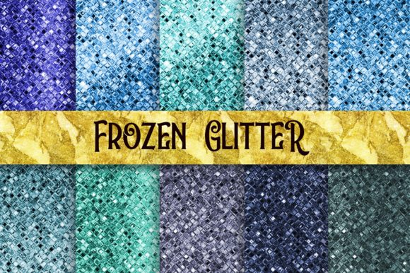 Frozen Glitter Texture Background Graphic Backgrounds By PinkPearly