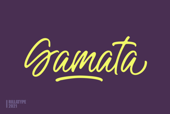 Print on Demand: Gamata Script & Handwritten Font By Rillatype