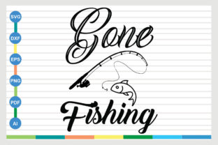 Download Gone Fishing Graphic By Designriverr Creative Fabrica