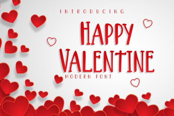 Print on Demand: Happy Valentine Script & Handwritten Font By Pidco.art