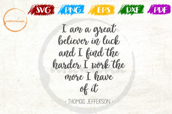 Print on Demand: I Am a Great Believer in Luck Graphic Crafts By Uramina