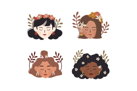 Print on Demand: International Women's Day Diversity Girl Grafik Illustrationen von Musbila