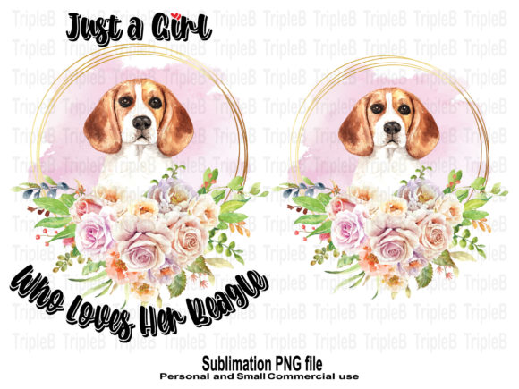 Print on Demand: Just a Girl Who Loves Beagle Sublimation Graphic Crafts By TripleBcraft