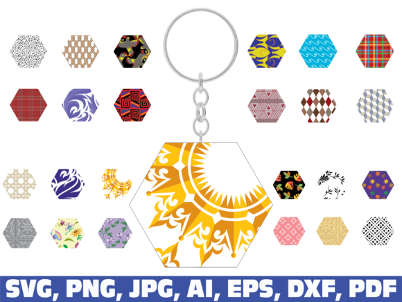 Keychain Pattern Graphic Illustrations By dodo2000mn1993