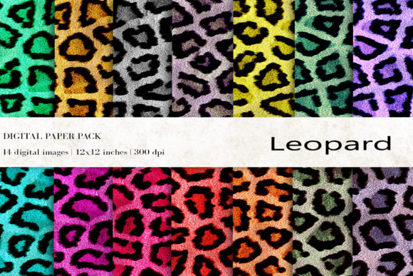 Leopard Digital Papers Graphic Backgrounds By BonaDesigns