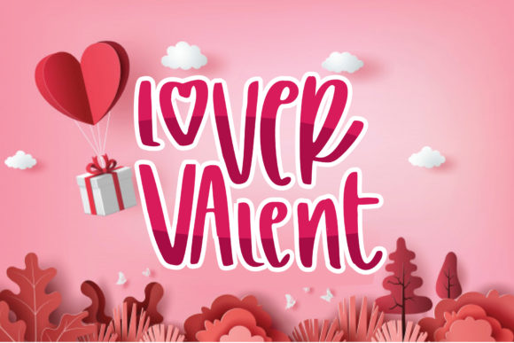 Print on Demand: Lover Valent Display Font By goodigital
