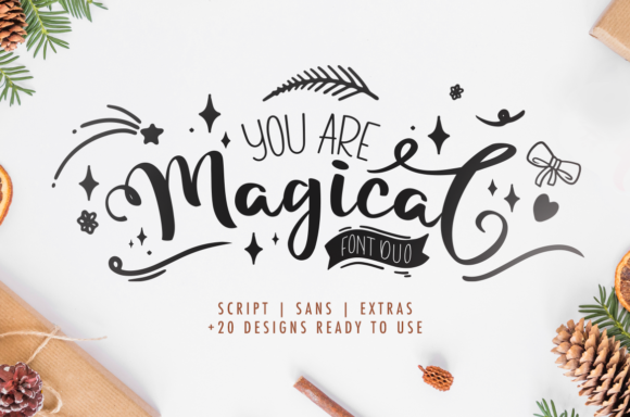 Print on Demand: Magical Script & Handwritten Font By agniardii