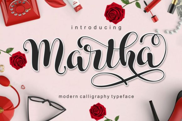 Print on Demand: Martha Script & Handwritten Font By pujalettering