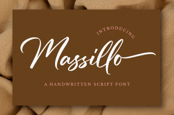 Print on Demand: Massillo Script & Handwritten Font By NissaStudio