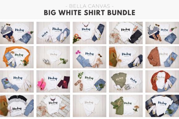 Mega White Shirt Mockup Bundle Graphic Product Mockups By MyMockupStudio