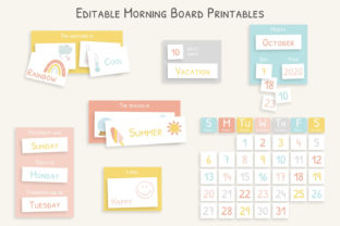 Morning Board for Kids | Editable Graphic Print Templates By DesignStudioTeti