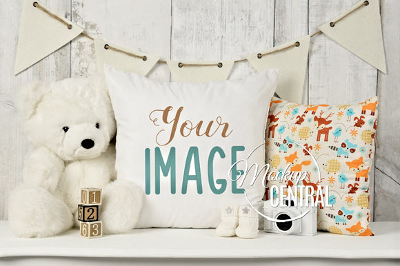 Nursery Baby Square Mockup Pillow Graphic Product Mockups By Mockup Central