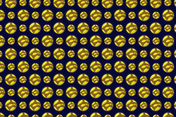 Pattern with the Planet Mercury Theme Graphic