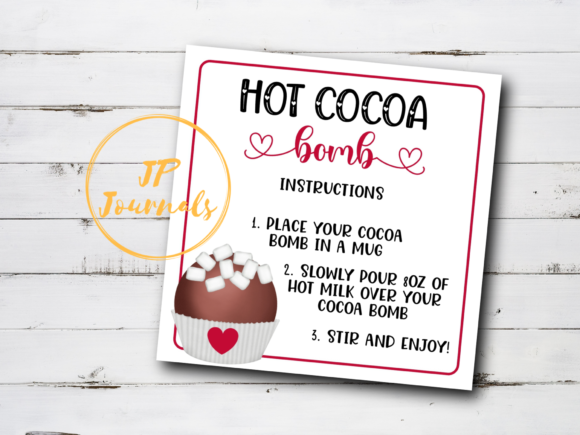 Print on Demand: Printable Hot Cocoa Bombs Instructions Graphic Illustrations By jpjournalsandbooks