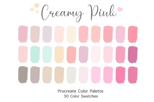 Procreate Color Palette - Creamy Pink Graphic Add-ons By SoftPastel