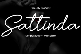 Print on Demand: Sattinda Script & Handwritten Font By Nabila Graphic