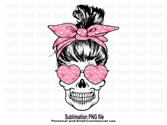 Print on Demand: Skull Funny Valentine's Sublimation 2 Graphic Crafts By TripleBcraft