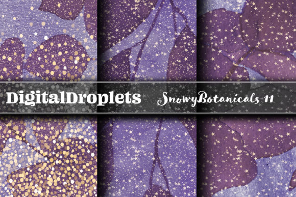 Snowy Botanicals Graphic Backgrounds By digitaldroplets