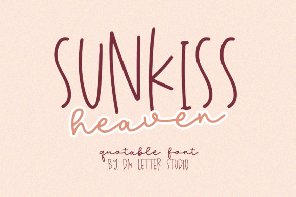 Print on Demand: Sunkiss Heaven Script & Handwritten Font By dmletter31