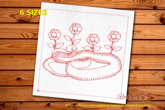 Taipan Reptiles Embroidery Design By Redwork101