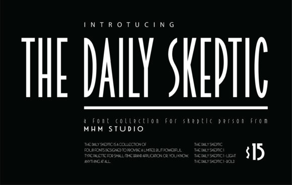 Print on Demand: The Daily Skeptic Display Font By MHM STUDIO