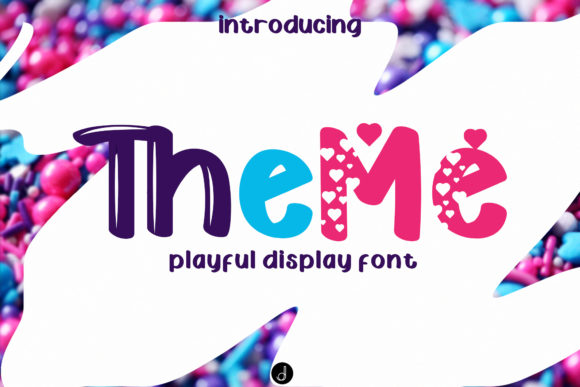 Print on Demand: The Me Display Font By jadatype