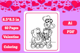 Print on Demand: Valentine Coloring for Kids-KDP Interior Graphic Coloring Pages & Books Kids By KDP_Interior_101